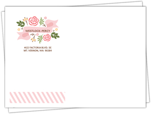 Soft Pink Whimsical Florals Envelope