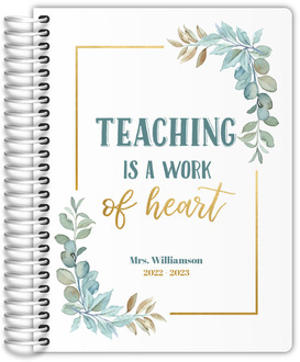 Stunning Faux Gold Stripes Custom Teacher Planner