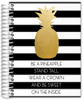 Modern Golden Pineapple Quote Journal