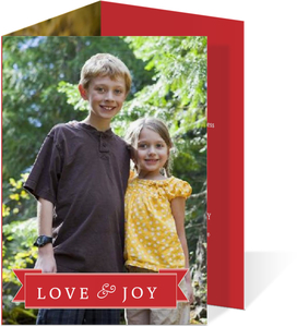 Red Banner Christmas Photo Card