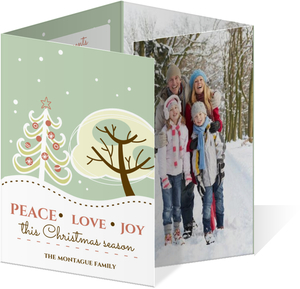 Snowy Day Christmas Greetings Photo Card