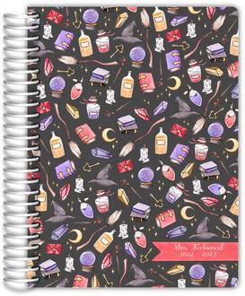 Magical Watercolor Pattern Teacher Planner