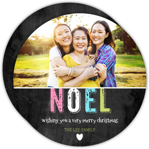 Simple Noel Christmas Photo Card
