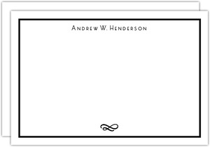 Classic Striped Border Notecard