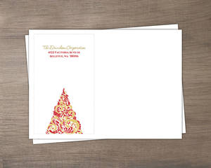 Red And Gold Flourish Business Holiday Envelope