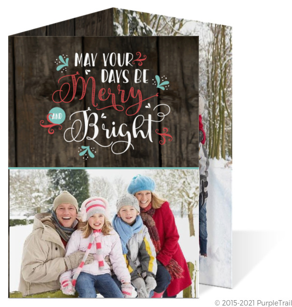 Merry And Bright Swirl Christmas Trifold