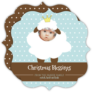 Little King Lamb Christmas Photo Card