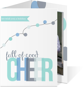 Full Of Good Cheer Holiday Photo Card