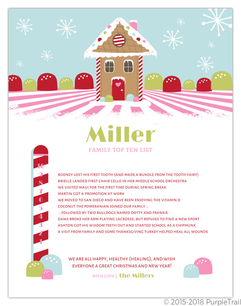 Gingerbread House Christmas Letter  Christmas Letter Templates