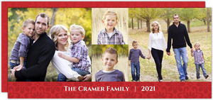 Family Photos Holiday Card and Letter