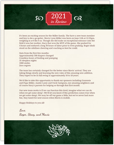 Peace Dove  Christmas Letter