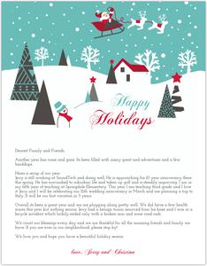 PurpleTrail  Christmas Card Letter Templates