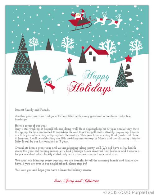 santas sleigh holiday letter insert christmas letter templates