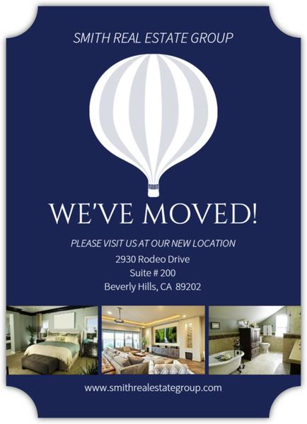Hot Air Balloon Business Moving Announcement
