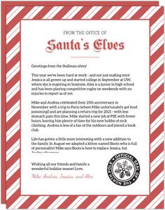 Office of Santa's Elves Christmas Letter