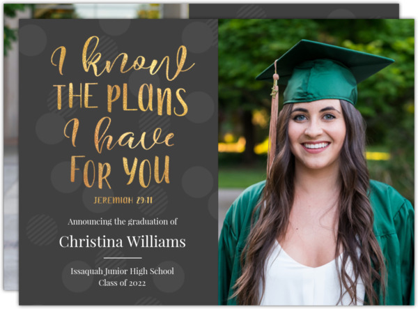 I Know The Plans Graduation Invitation