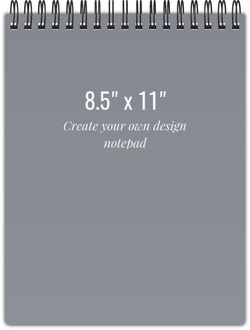8.5x11 Notebook - Design Your Own