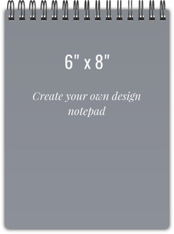 6x8 Notebook - Design Your Own