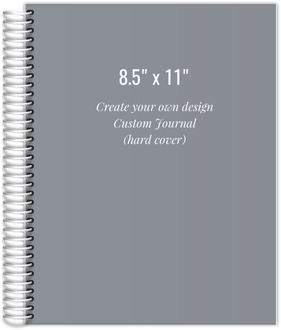 8.5x11 Hard Cover Journal - Design Your Own