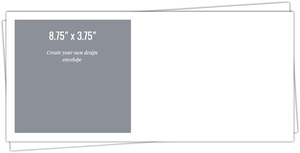8.75x3.75 Envelope - Design Your Own