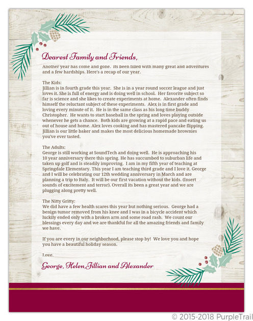 winter letter templates