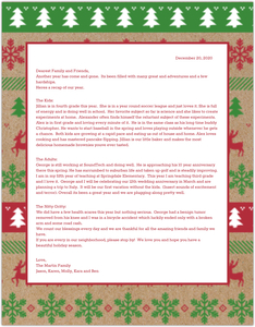 Christmas Sweater Pattern Holiday Newsletter
