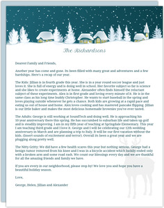 Winter Wonderland Town Christmas Letter