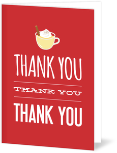 Red Eggnog Holiday Thank You Card
