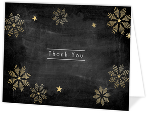 Joyful Snowflakes Christmas Thank You Card