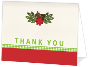 Cheerful Holiday Thank You Card