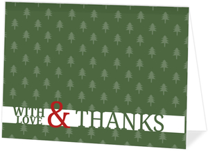 Green and Red Holiday Thank You Card