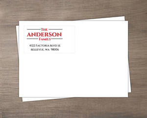 Simply Stated Red and Black Envelope