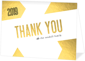 Peace Geometric Gold Foil Thank You Card