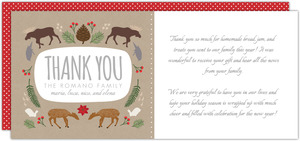 Woodland Wonderland Holiday Thank You Card