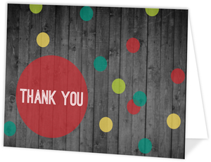 Merry   Bright Dots Holiday Thank You Card
