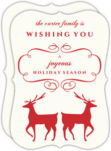 Elegant Reindeer Holiday Card
