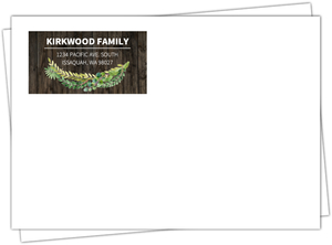 Rustic Green Watercolor Wreath Custom Envelope