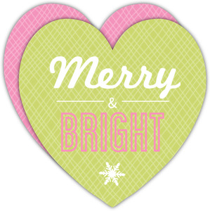 Green Merry and Bright Holiday Card