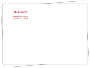 Red and White Address Label Envelope