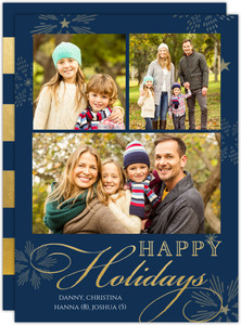Sparkly Stars Holiday Card