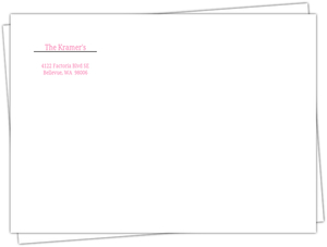 Pink And White Address Label Envelope - 567