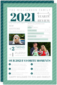 Modern Family Infographic Holiday Card