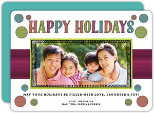 Colorful Cheer Holiday Photo Card