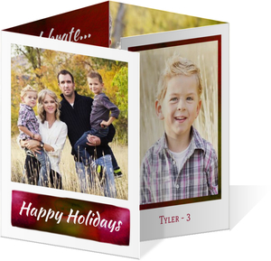 Seasons Greeting Holiday Banner Photo Card