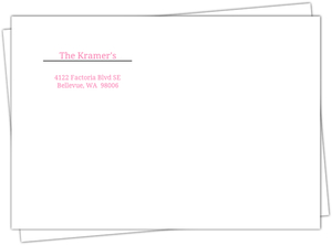 Pink And White Address Label Envelope - 571