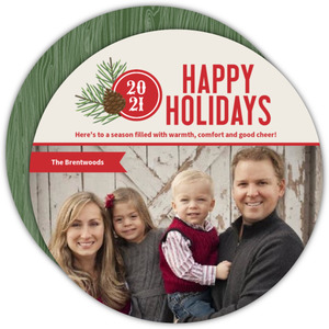 Pine Country Woods Holiday Photo Card