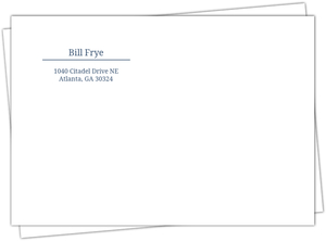 Blue And White Address Label Envelope - 572