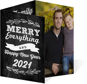 Family Year in Review Holiday Photo Card