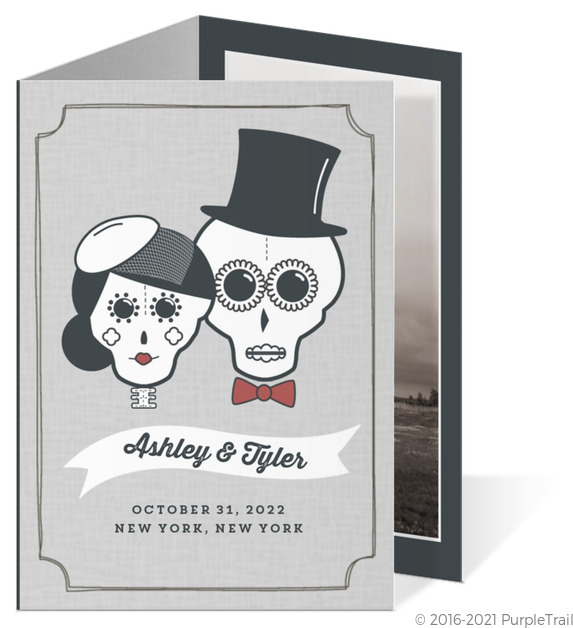 Wedding Topper Sugar Skulls Wedding Invitation