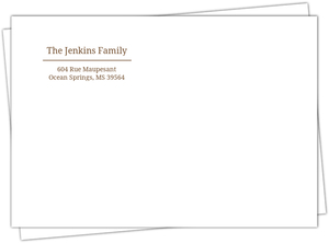 Brown and White Address Label Envelope